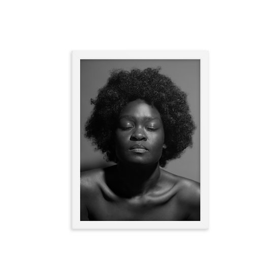 Afrocentric Natural Beauty Framed Print