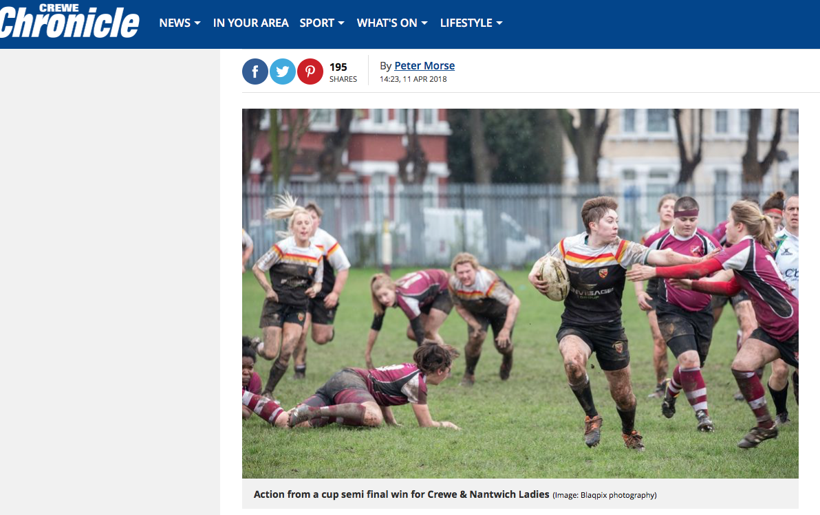 Crewe ladies rugby match