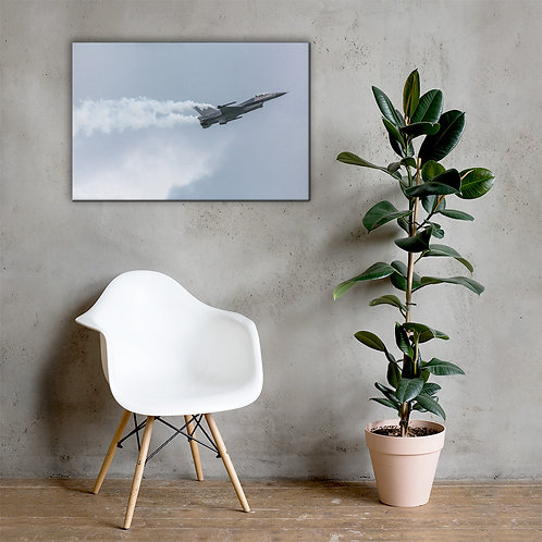 Fighter Jet in motion Canvas