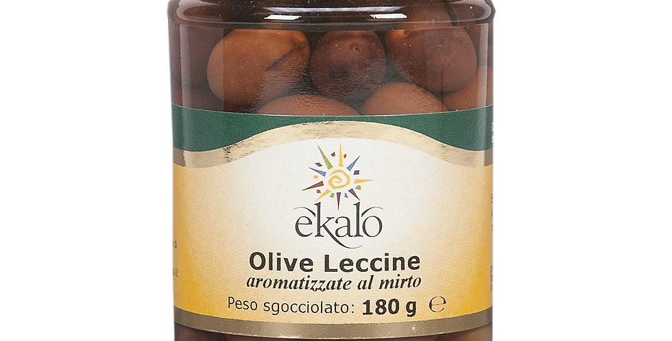 Olive leccine aromatizzate al mirto