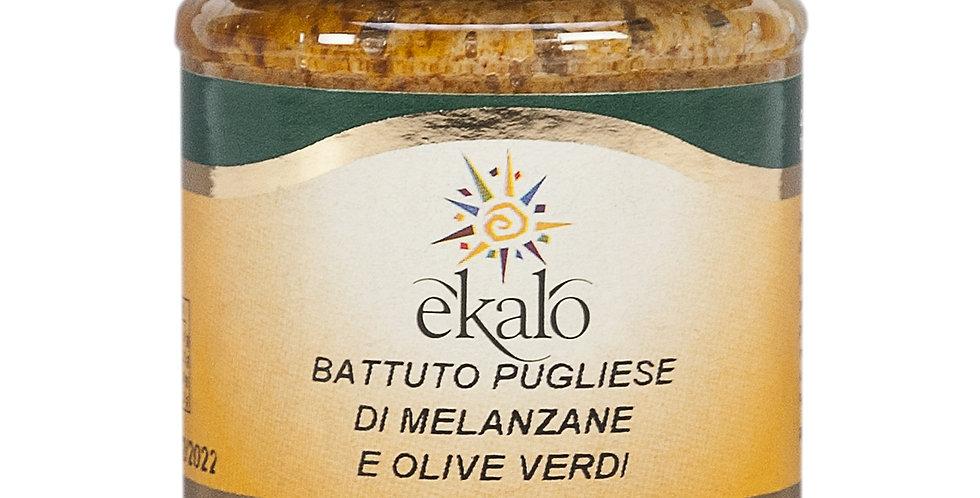 Battuto pugliese di melanzane e olive verdi