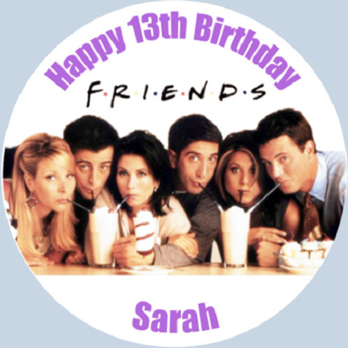 """Friends Personalised 8"""" Round Edible Cake Topper"""