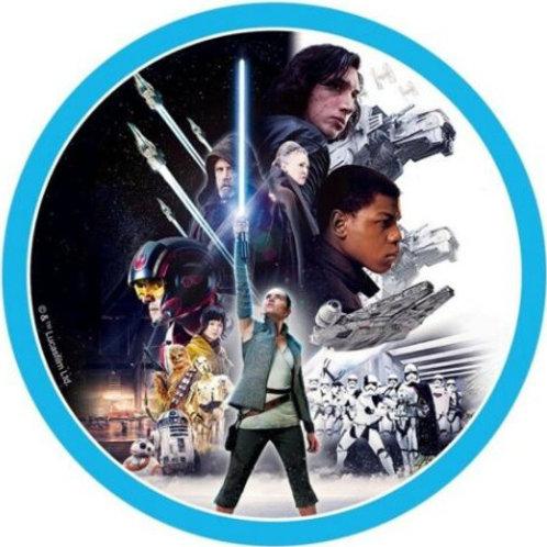"""Star Wars The Last Jedi 8"""" Round Edible Cake Topper"""