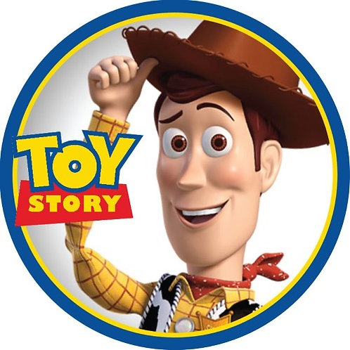 """Toy Story Woody 8"""" Round Edible Cake Topper"""