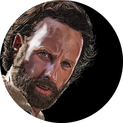 """The Walking Dead Rick Grimes 8"""" Round Edible Cake Topper"""