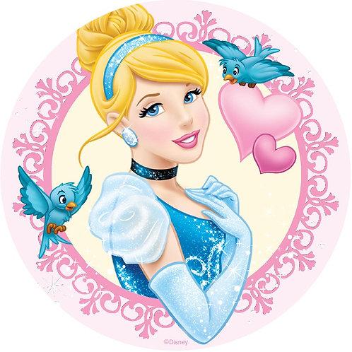 """Cinderella Princess 8"""" Round Edible Cake Topper #2"""