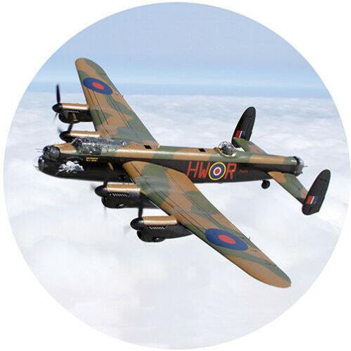 """Lancaster Bomber 8"""" Round Edible Cake Topper"""