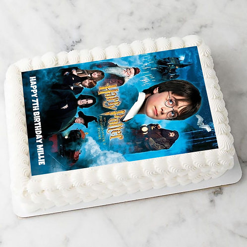 Harry Potter Personalised Edible A4 Sized Cake Topper