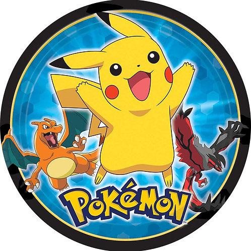 """Pokemon 8"""" Round Edible Cake Topper #1"""