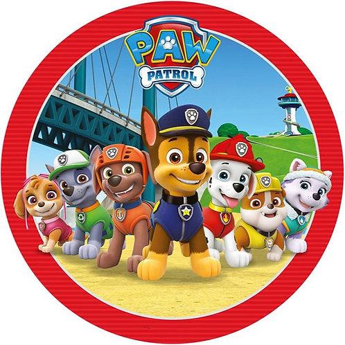 "Paw Patrol Friends 8"" Round Edible Cake Topper #3"