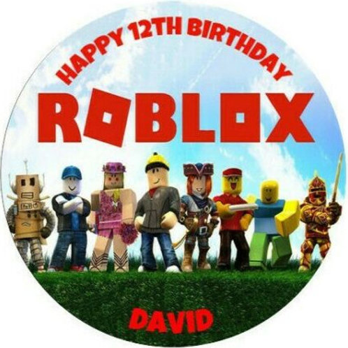"Roblox Personalised 8"" Round Edible Cake Topper #1"