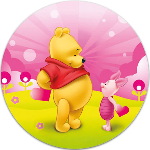 """Winnie The Pooh 8"""" Round Edible Cake Topper #4"""