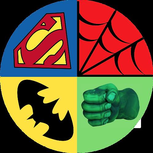 "Super Hero Marvel 8"" Round Edible Cake Topper"