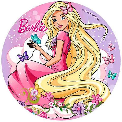 "Barbie 8"" Round Edible Cake Topper #5"