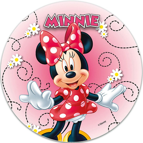 """Minnie Mouse 8"""" Round Edible Cake Topper #4"""