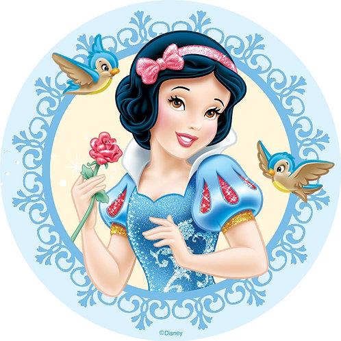 """Snow White Princess 8"""" Round Edible Cake Topper #2"""