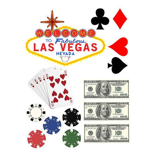 Las Vegas Casino Theme Edible Cupcake/Cake Toppers