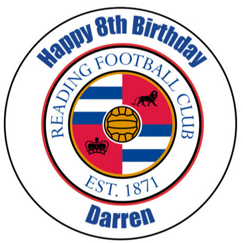 "Reading FC Personalised 8"" Round Edible Cake Topper"
