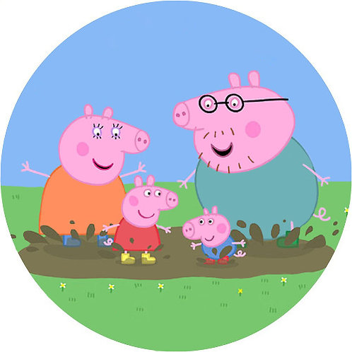 """Peppa Pig 8"""" Round Edible Cake Topper #9"""