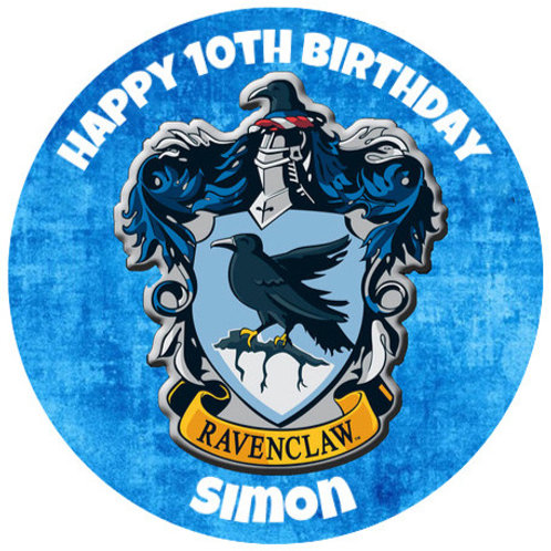 """Harry Potter Ravenclaw Personalised 8"""" Round Edible Cake Topper"""