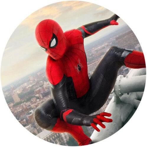 "Spiderman 8"" Round Edible Cake Topper #3"