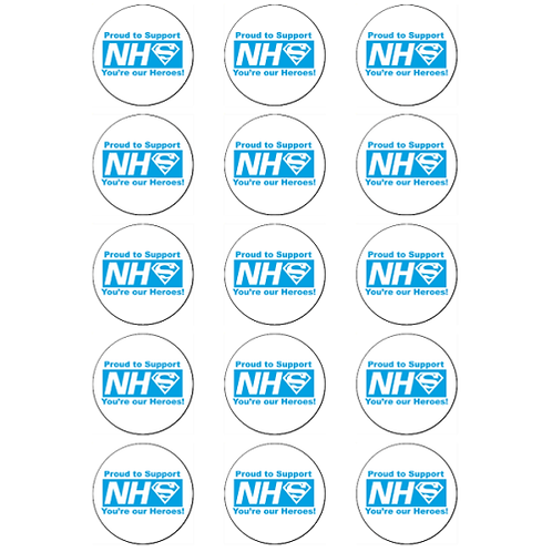 15 x NHS Heroes Thank You Edible Cupcake Toppers #4