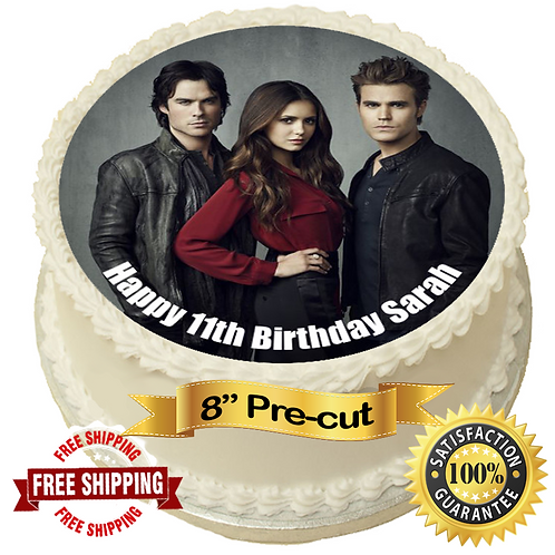 """The Vampire Diaries Personalised 8"""" Round Edible Cake Topper"""