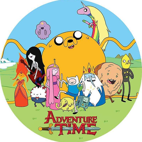 """Adventure Time 8"""" Round Edible Cake Topper"""