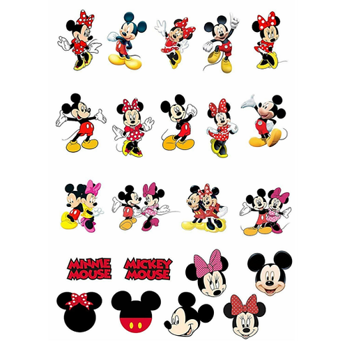 Mickey And Minnie Mouse Edible Cake Toppers