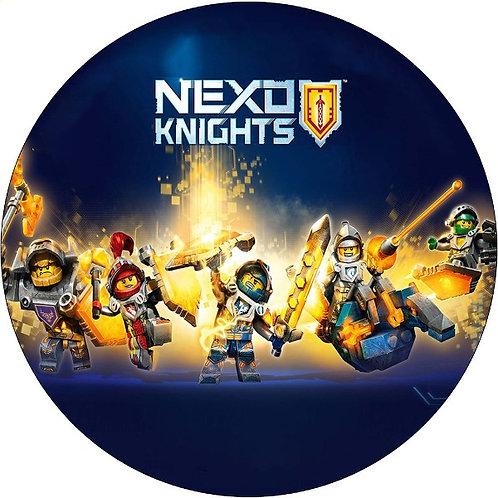 "Nexo Knights 8"" Round Edible Cake Topper"