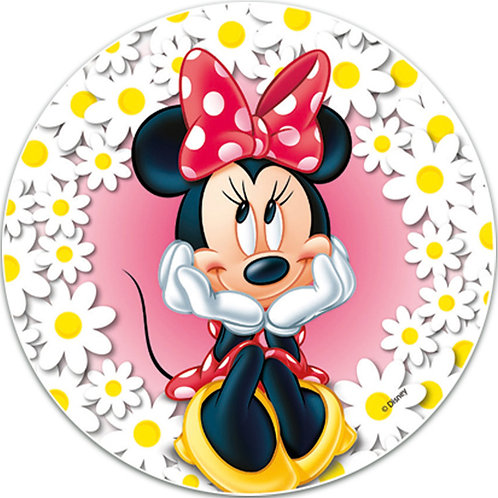 """Minnie Mouse 8"""" Round Edible Cake Topper"""