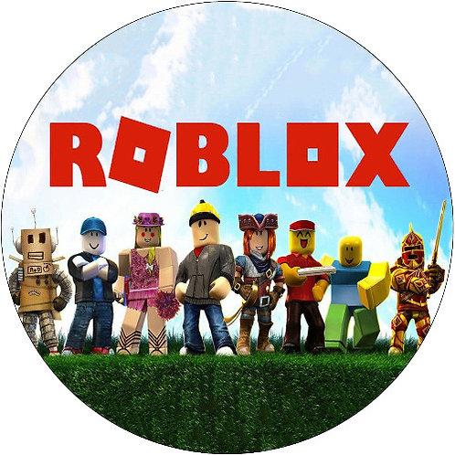 "Roblox 8"" Round Edible Cake Topper"