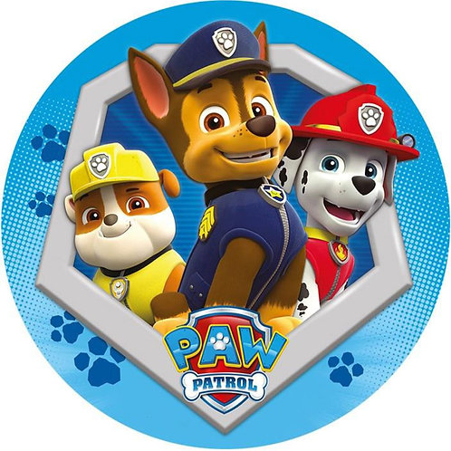 "Paw Patrol Friends 8"" Round Edible Cake Topper #4"