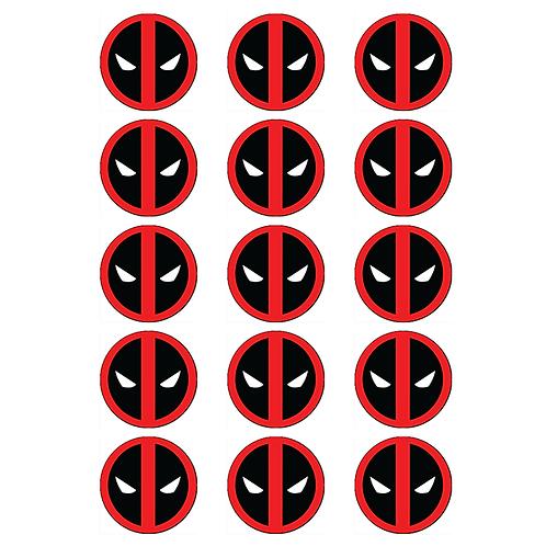 15 x Deadpool Logo Edible Cupcake Toppers