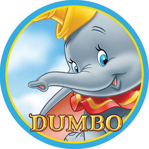 "Dumbo 8"" Round Edible Cake Topper"