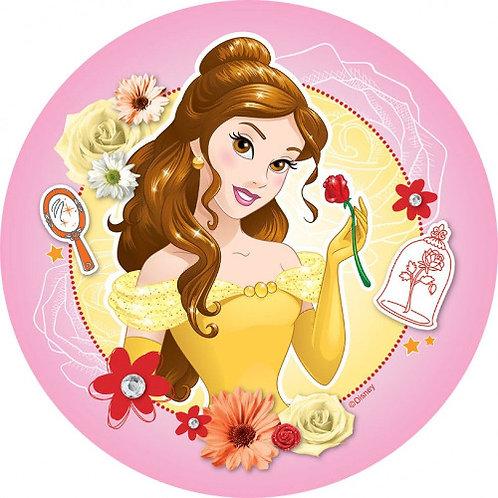 """Belle Princess 8"""" Round Edible Cake Topper"""