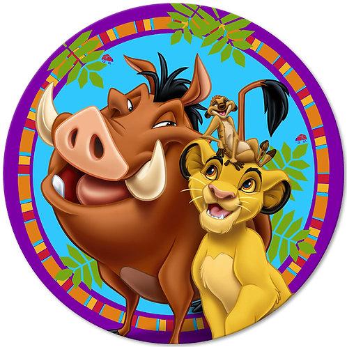 "Lion King Buddies 8"" Round Edible Cake Topper"