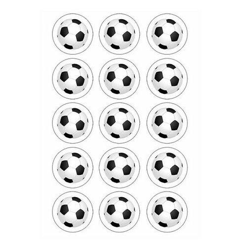15 x Football Edible Cupcake Toppers