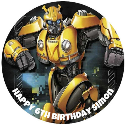 """Transformers Personalised 8"""" Round Edible Cake Topper #1"""