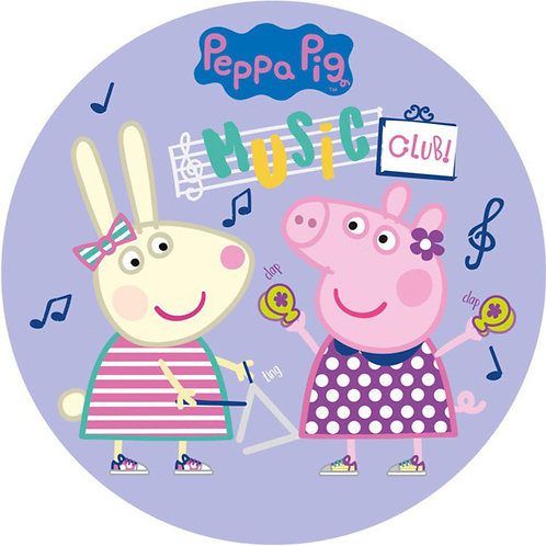 "Peppa Pig 8"" Round Edible Cake Topper #3"