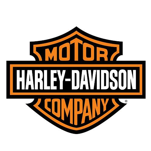 """Harley Davidson Logo 8"""" Round Edible Cake Topper"""