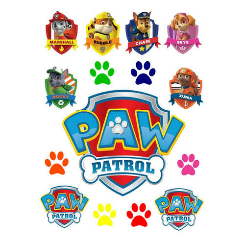 Paw Patrol Edible Wafer Cake Toppers #1