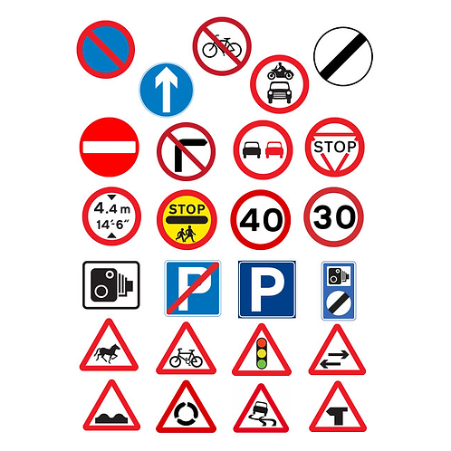 25 x Road Signs Edible Wafer Cupcake Toppers