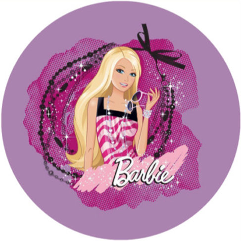 "Barbie 8"" Round Edible Cake Topper #4"
