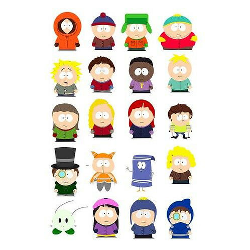 Southpark Characters Edible Wafer Cupcake Toppers