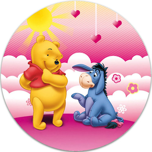 """Winnie The Pooh 8"""" Round Edible Cake Topper #3"""
