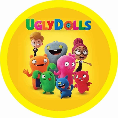 "Ugly Dolls 8"" Round Edible Cake Topper"