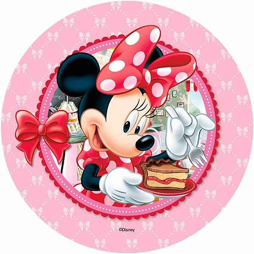 """Minnie Mouse 8"""" Round Edible Cake Topper #5"""
