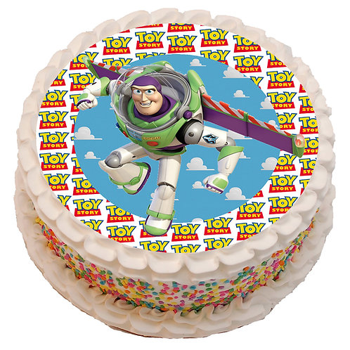 """Toy Story Buzz Light Year 8"""" Round Edible Cake Topper"""