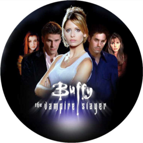 "Buffy The Vampire Slayer 8"" Round Edible Cake Topper"
